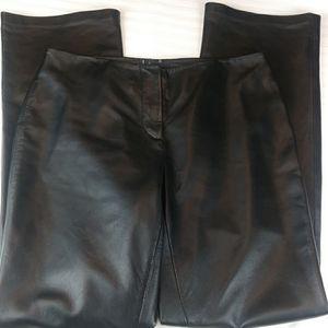INC genuine leather wide leg pants US sz 4
